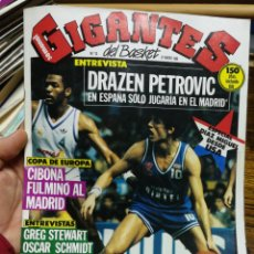 Coleccionismo deportivo: REVISTA GIGANTES DEL BASKET- PORTADA DRAZEN PETROVIC, + POSTER PETROVIC- N°12, 1986.. Lote 150903244