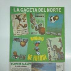 Coleccionismo deportivo: LA GACETA DEL NORTE. ESPECIAL MUNDIAL DE ARGENTINA 78'. 21 MAYO DE 1978. TDKPR3. Lote 151115998