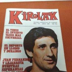Coleccionismo deportivo: KIROLAK Nº 111 -1981 RETEGUI II CUENTA SU VIDA / POSTER CAMPEON MANOMANISTA 1981. Lote 151129454