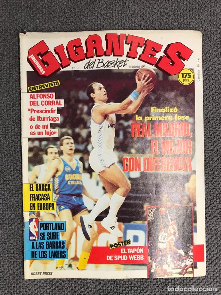 BASKET. REVISTA DE BALONCESTO GIGANTES NO.111 (DICIEMBRE DE 1987) (Coleccionismo Deportivo - Revistas y Periódicos - otros Deportes)