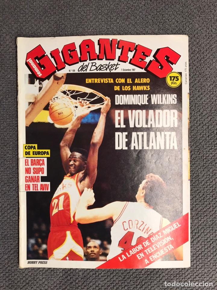 BASKET. REVISTA DE BALONCESTO GIGANTES NO.109 (DICIEMBRE DE 1987) (Coleccionismo Deportivo - Revistas y Periódicos - otros Deportes)