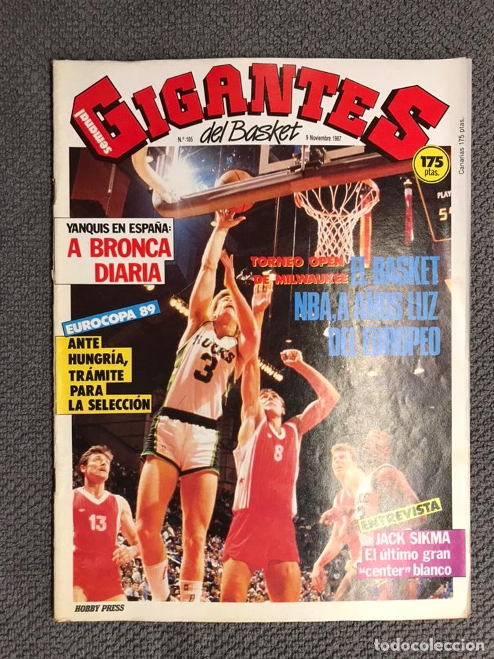 BASKET. REVISTA DE BALONCESTO GIGANTES NO.105 (NOVIEMBRE DE 1987) (Coleccionismo Deportivo - Revistas y Periódicos - otros Deportes)