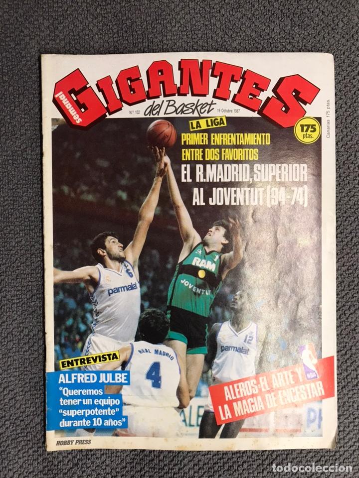 BASKET. REVISTA DE BALONCESTO GIGANTES NO.102 (OCTUBRE DE 1987) (Coleccionismo Deportivo - Revistas y Periódicos - otros Deportes)