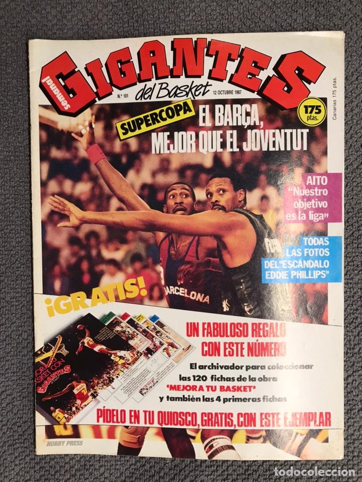 BASKET. REVISTA DE BALONCESTO GIGANTES NO.101 (NOVIEMBRE DE 1987) (Coleccionismo Deportivo - Revistas y Periódicos - otros Deportes)