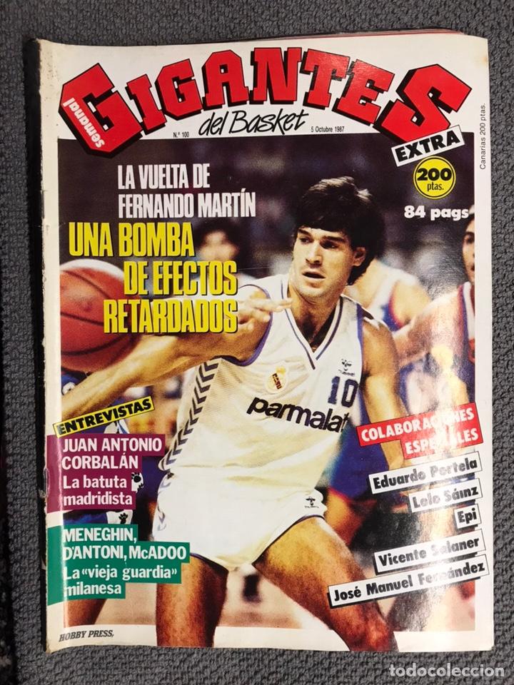 BASKET. REVISTA DE BALONCESTO GIGANTES NO.100 (OCTUBRE DE 1987) (Coleccionismo Deportivo - Revistas y Periódicos - otros Deportes)