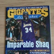 Coleccionismo deportivo: REVISTA BALONCESTO GIGANTES BASKET 816 JUNIO 2001 LAKERS CAMPEON NBA SHAQUILLE O´NEALREVISTA BALONCE. Lote 152291702