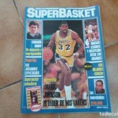 Coleccionismo deportivo: REVISTA SUPERBASKET. N° 11. ENERO 1987. INCLUYE ENTREVISTA A MAGIC JOHNSON. LAKERS.. Lote 152390518