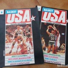 Coleccionismo deportivo: LOTE DE 2. FASCÍCULOS COLECCIONABLES. BASKET USA. BOSTON CELTICS 1 Y 2. GIGANTES. 1986. N° 6 Y 7.. Lote 152428202