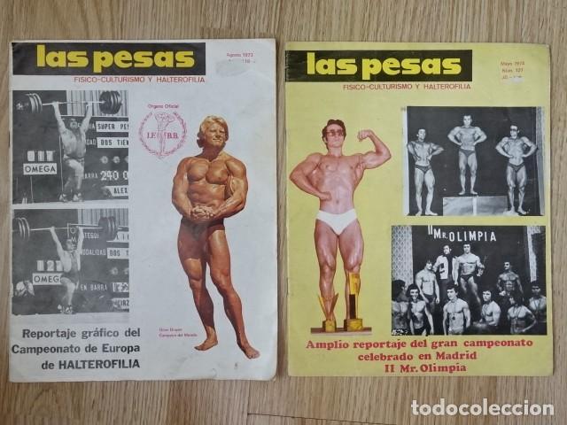 LOTE 2 REVISTAS LAS PESAS Nº 118 Y 127 FISICO CULTURISMO HALTEROFILIA AÑO 1973 1974 MR OLIMPIA (Coleccionismo Deportivo - Revistas y Periódicos - otros Deportes)