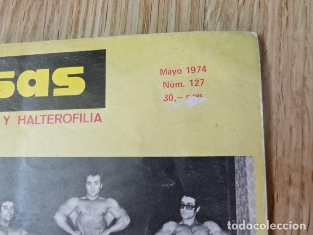 Coleccionismo deportivo: Lote 2 Revistas LAS PESAS nº 118 y 127 Fisico Culturismo Halterofilia Año 1973 1974 Mr Olimpia - Foto 3 - 152640222