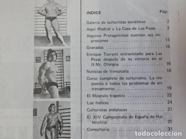 Coleccionismo deportivo: Lote 2 Revistas LAS PESAS nº 118 y 127 Fisico Culturismo Halterofilia Año 1973 1974 Mr Olimpia - Foto 7 - 152640222