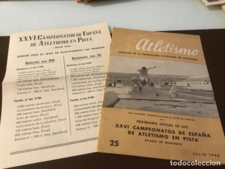 ANTIGUA REVISTA ATLETISMO 1946 (Coleccionismo Deportivo - Revistas y Periódicos - otros Deportes)