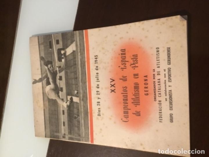 ANTIGUA REVISTA ATLETISMO 1945 (Coleccionismo Deportivo - Revistas y Periódicos - otros Deportes)