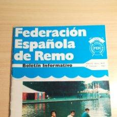 Coleccionismo deportivo: BOLETIN 1977 - FEDERACION ESPAÑOLA DE REMO. Lote 152768389