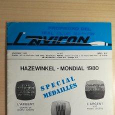 Coleccionismo deportivo: REVISTA L 'AVIRON 1980. Lote 152772993