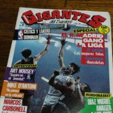 Coleccionismo deportivo: REVISTA GIGANTES DEL BASKET- ESPECIAL R.MADRID GANÓ LA LIGA- N°28, 1986.. Lote 153046590
