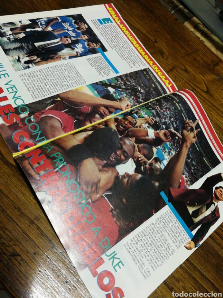 Coleccionismo deportivo: REVISTA GIGANTES DEL BASKET- PORTADA LIGA UNIVERSITARIA, LOUISVILLE-POSTER MAGIC JOHNSON- N°24,1986. - Foto 5 - 153047564