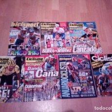 Coleccionismo deportivo: LOTE DE 7 REVISTA DE BICISPORT DE LOS AÑOS 90. Lote 153859226