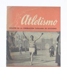 Coleccionismo deportivo: ATLETISMO, BOLETÍN FEDERACIÓN CATALANA DE ATLETISMO, ENERO 1944, NÚM. 1, BARCELONA. 21,5X15CM. Lote 157704910