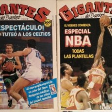 Coleccionismo deportivo: LARRY BIRD & BOSTON CELTICS - REVISTAS ''GIGANTES DEL BASKET'' - OPEN MCDONALDS 1988. Lote 147263082
