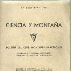 Coleccionismo deportivo: 174.- CIENCIA Y MIONTAÑA - EL ESPELEOLOGO POR F.VICENS GIRALT - ESPELEOLOGIA. Lote 159397542