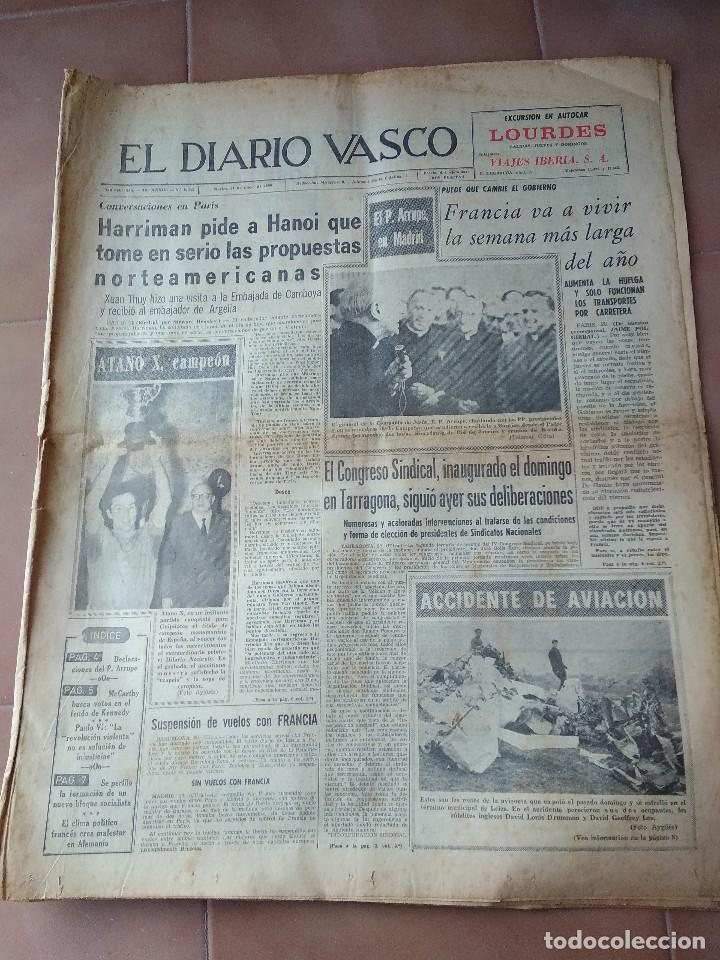 DIARIO VASCO 1968 ATANO X CAMPEON PELOTA (Coleccionismo Deportivo - Revistas y Periódicos - otros Deportes)