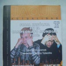 Coleccionismo deportivo: JAQUE , REVISTA ESPAÑOLA DE AJEDREZ. Nº 550 , ENERO 2002. Lote 161293142