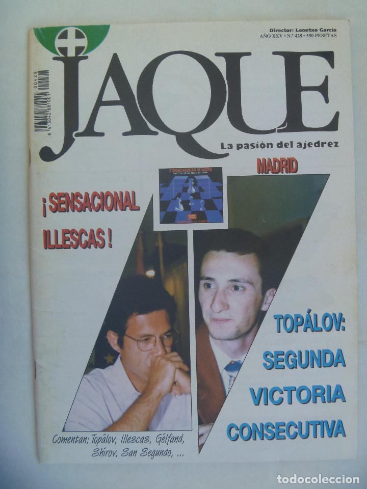 JAQUE , REVISTA ESPAÑOLA DE AJEDREZ. Nº 428, JULIO 1996 (Coleccionismo Deportivo - Revistas y Periódicos - otros Deportes)