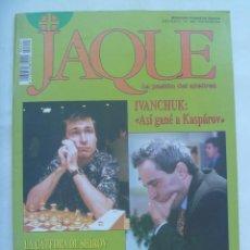 Coleccionismo deportivo: JAQUE , REVISTA ESPAÑOLA DE AJEDREZ. Nº 445, MARZO 1997. Lote 161427358