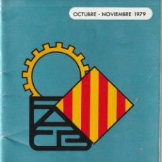 Coleccionismo deportivo: OCTUBRE 1979.BOLETIN INFORMATIVO FEDERACION AUTOMOVILISMO DE CATALUNYA Y BALEARES 1979 .3 FOTOS. Lote 161753250