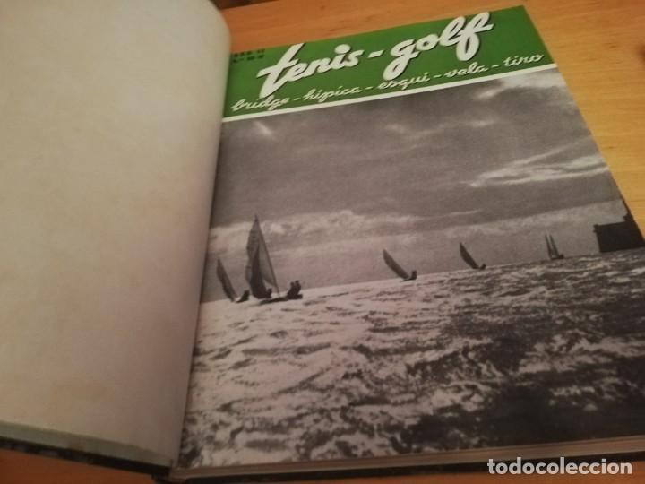 Coleccionismo deportivo: REVISTA TENIS - GOLF - BRIDGE - HIPICA - ESQUI - VELA - TIRO, 1947 DEL Nº 10 aL 22 AÑO COMPLETO - Foto 2 - 162096906