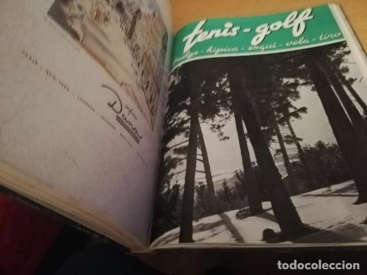 Coleccionismo deportivo: REVISTA TENIS - GOLF - BRIDGE - HIPICA - ESQUI - VELA - TIRO, 1947 DEL Nº 10 aL 22 AÑO COMPLETO - Foto 3 - 162096906