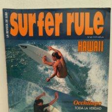Coleccionismo deportivo: REVISTA DE SURF SURFER RULE NÚMERO 60. Lote 162379374