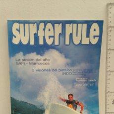 Coleccionismo deportivo: REVISTA DE SURF SURFER RULE NÚMERO 75. Lote 162380185