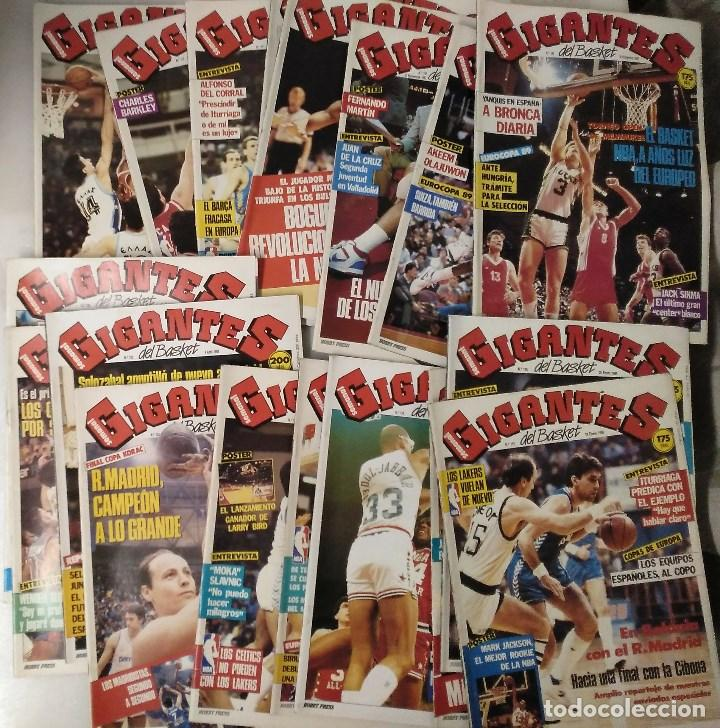 COLECCIÓN DE 120 DE LAS 130 PRIMERAS REVISTAS ''GIGANTES DEL BASKET'' (1985-1988) - ACB/NBA (Coleccionismo Deportivo - Revistas y Periódicos - otros Deportes)
