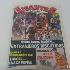 Coleccionismo deportivo: REVISTA DE BALONCESTO GIGANTES DEL BASKET AÑO 1989 N° 205 CON PÓSTER . Lote 163264422