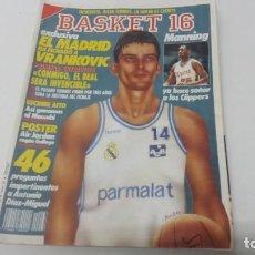 Coleccionismo deportivo: REVISTA DE BALONCESTO BASKET 16 AÑO 1988 N° 63 . Lote 163358638