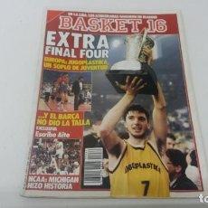 Coleccionismo deportivo: REVISTA DE BALONCESTO BASKET 16 AÑO 1989 N° 80 . Lote 163359086