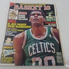 Coleccionismo deportivo: REVISTA DE BALONCESTO BASKET 16 AÑO 1989 N° 62 CON PÓSTER MAGIC. Lote 163359438