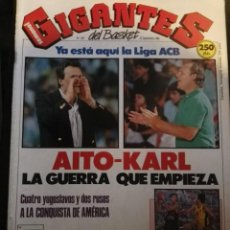 Coleccionismo deportivo: REVISTA GIGANTES DEL BASKET Nº 203 25 SEPTIEMBRE 1989 CON POSTER. Lote 163790738