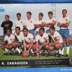 Collezionismo sportivo: TELE EXPRES. EQUIPOS DE 1ª DIVISIÓN. R. ZARAGOZA. UNA GENTILEZA DE PHILCO, 1964.. Lote 164584494