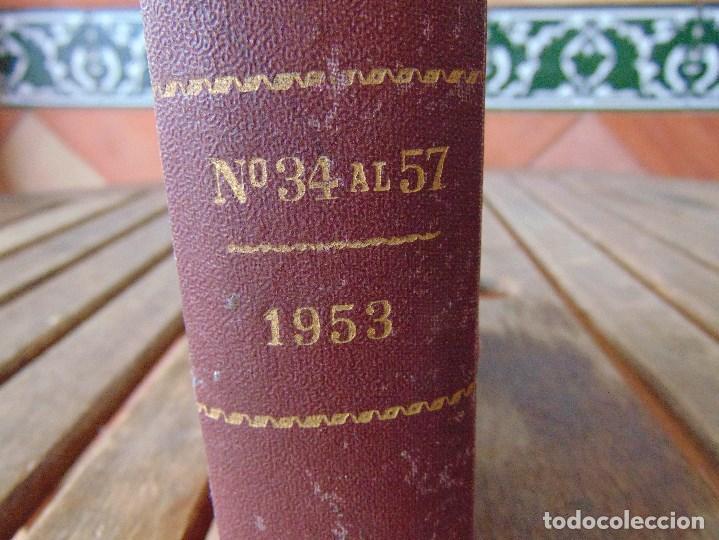 Coleccionismo deportivo: TOMO DE LA REVISTA MOTOCILISMO REVISTA ESPAÑOLA DE LA MOTOCICLETA AÑO 1953 Nº 34 AL 57 LEER - Foto 2 - 164739634