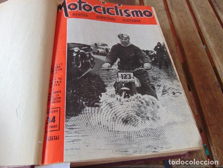 Coleccionismo deportivo: TOMO DE LA REVISTA MOTOCILISMO REVISTA ESPAÑOLA DE LA MOTOCICLETA AÑO 1953 Nº 34 AL 57 LEER - Foto 10 - 164739634