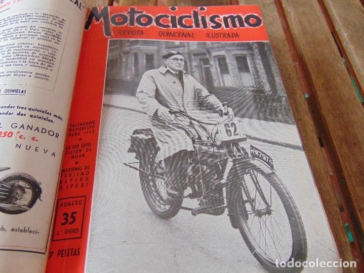 Coleccionismo deportivo: TOMO DE LA REVISTA MOTOCILISMO REVISTA ESPAÑOLA DE LA MOTOCICLETA AÑO 1953 Nº 34 AL 57 LEER - Foto 11 - 164739634