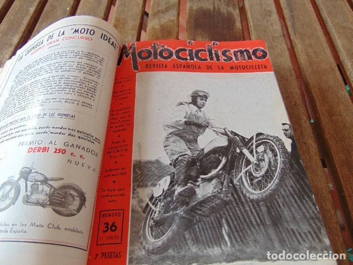 Coleccionismo deportivo: TOMO DE LA REVISTA MOTOCILISMO REVISTA ESPAÑOLA DE LA MOTOCICLETA AÑO 1953 Nº 34 AL 57 LEER - Foto 12 - 164739634