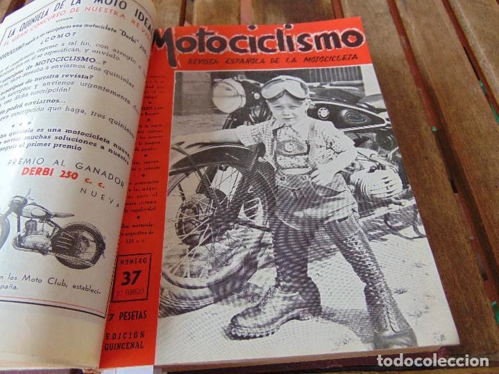 Coleccionismo deportivo: TOMO DE LA REVISTA MOTOCILISMO REVISTA ESPAÑOLA DE LA MOTOCICLETA AÑO 1953 Nº 34 AL 57 LEER - Foto 13 - 164739634