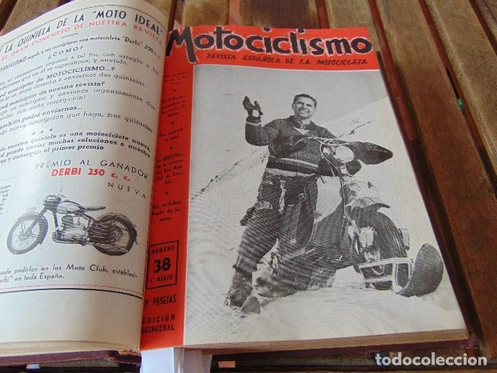 Coleccionismo deportivo: TOMO DE LA REVISTA MOTOCILISMO REVISTA ESPAÑOLA DE LA MOTOCICLETA AÑO 1953 Nº 34 AL 57 LEER - Foto 14 - 164739634
