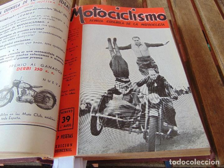 Coleccionismo deportivo: TOMO DE LA REVISTA MOTOCILISMO REVISTA ESPAÑOLA DE LA MOTOCICLETA AÑO 1953 Nº 34 AL 57 LEER - Foto 15 - 164739634