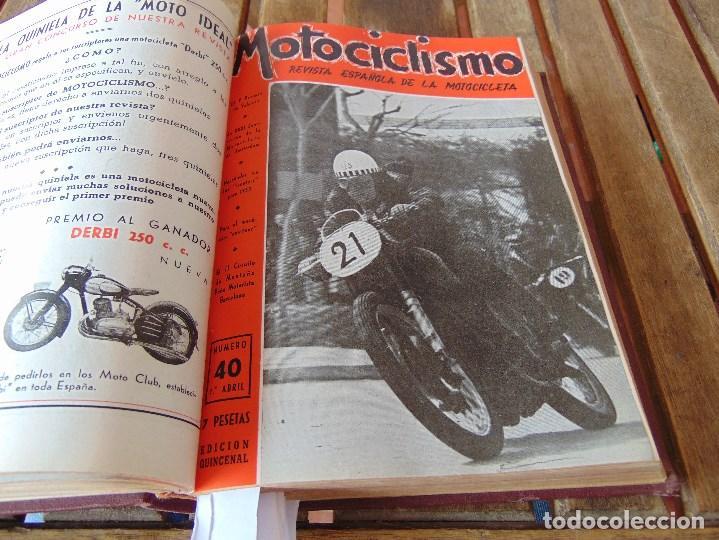 Coleccionismo deportivo: TOMO DE LA REVISTA MOTOCILISMO REVISTA ESPAÑOLA DE LA MOTOCICLETA AÑO 1953 Nº 34 AL 57 LEER - Foto 16 - 164739634