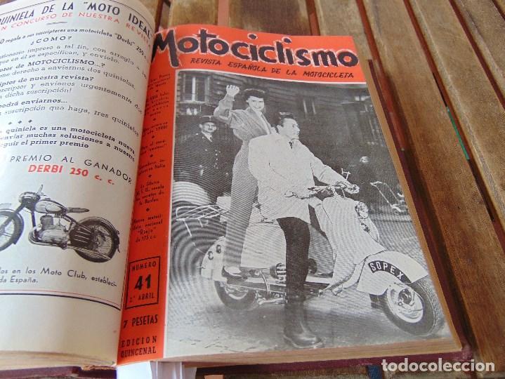 Coleccionismo deportivo: TOMO DE LA REVISTA MOTOCILISMO REVISTA ESPAÑOLA DE LA MOTOCICLETA AÑO 1953 Nº 34 AL 57 LEER - Foto 17 - 164739634